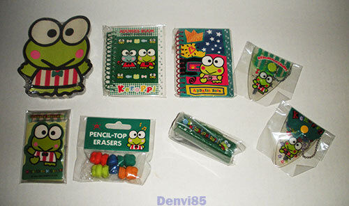 VINTAGE! Sanrio KEROPPI Lot of 8 Items! All NEW!