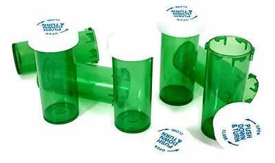 Green Vials 8131620304060 Dram Sizes Child Resistant Prescription Bottle
