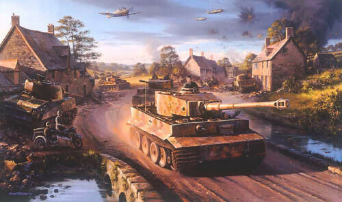 Tigers in Normandy by Nicolas Trudgian signed by WWII Panzer Tank Commanders