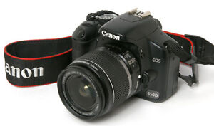 Canon EOS Xsi camera with 18-55mm lens
