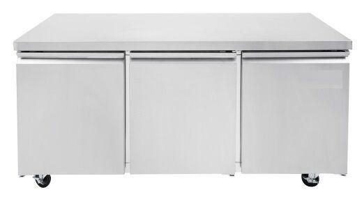 "Universal Tuc72r 72"" Undercounter Refrigerator Three Solid Door"