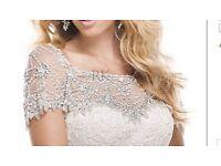 Maggie Sottero Ivory Chesney Wedding Dress Size 8 with Swarovski Crystal Jacket