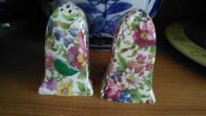 VINTAGE CHINA SALT & PEPPER SHAKERS