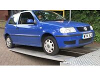 Volkswagen Polo E, Petrol, 999, 3DR, Manual,non runner , spares, repair. 2000 year