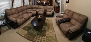 Sectional Love Seat Sofa. Reclining love seats and pull out bed.