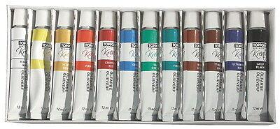 (EUR 21,36 / L) 12 Ölfarben Set je 12ml