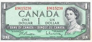 One dollar bill 1954.Collectible.