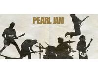 Pearl jam ticket Tuesday 17th July seated London