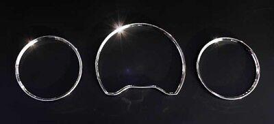 Für Mercedes Benz E W210 C W202 W208 CLK Chrom Tacho Ringe Tachochromringe