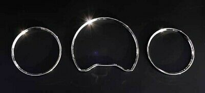 For Mercedes Benz W210 E W208 CLK W202 C Chrome Speedometer Gauge Dial Rings