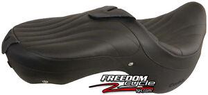 02-03 YAMAHA ROAD STAR WARRIOR 1700 CORBIN DUAL TOURING SEAT BLACK LEATHER NEW!