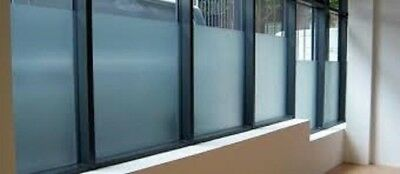 "24"" X 25 FT ROLL WHITE FROST FILM PRIVACY FOR OFFICE,BATH,GLASS DOORS,STORE,ETC"