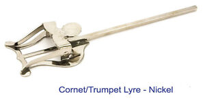 NICKEL-LYRE-MUSIC-HOLDER-FOR-CORNET-TRUMPET-FLUGEL