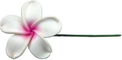 Hawaiian Tropical Flowers Hair Stick Hawaii Fimo Jewelry Pink Plumerias