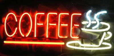 """New Coffee Ship Cafe Open Neon Light Sign 20""""x10"""" Ship From USA"""