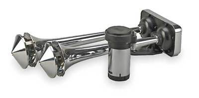 - Dual Trumpet Horn,Air,Chrome,Roof Mount WOLO 418