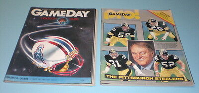 2 1980's GAMEDAY PROGRAMS STEELERS vs OILERS and CHIEFS