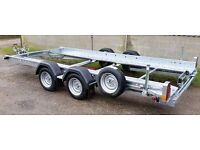 Woodford STT 070 14 ft x 6ft winched car trasporter trailer ( ifor williams , bateson , )