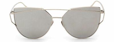 Frauen Cat Eye Sonnenbrille Klassische Marke Designer Twin-Beams Sonnenbrillen