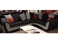 SCS corner sofa and 2 seater swivel chair