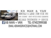 KB MAN + VAN REMOVAL HOUSE CLEARANCE AND PICK UP SERVICES