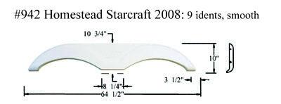 Starcraft Homestead RV  Fender Skirt  FIBERGLASS  #942 White **SEE DESCRIPTION**