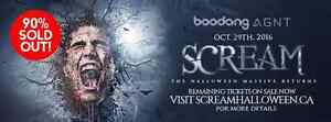 Official Scream Hardcopy Tickets for Sale
