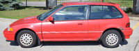 1991 Honda Civic Special Edition Hatchback for Parts