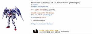 selling used METAL BUILD Gundam 00  oo Raiser