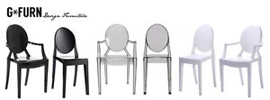 Starck Style Victoria Louis Ghost Dining Chair Armchair Modern