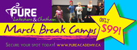 MARCH BREAK DANCE CAMPS - Only $99!