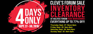 Cleve's Fall Forum Sale