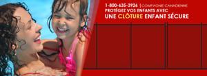 CLÔTURE PISCINE AMOVIBLE ENFANT SÉCURE Saint-Jean-sur-Richelieu