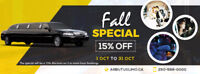 Take Advantage of Arbutus Limousines Fall Special