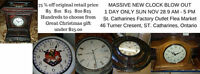 Clock Blow Out Sale upto 75 % off retail prices this Sunday only