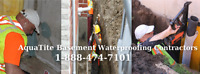 Wet Leaky Basement 1-888-474-7101 Epoxy Foundation Crack Repair