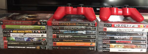 Stack of PS3 Games
