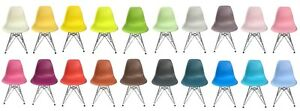 Eames Style Eiffel Dining Chair Side Chairs Chaise Diner Molded Saguenay Saguenay-Lac-Saint-Jean image 1