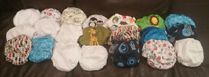 21 cloth diapers adjustable from 7-35 pounds!