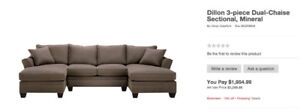 Dillon 3-Piece Dual Chaise Sectional