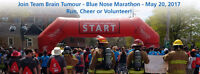 Join Team Brain Tumour at the Blue Nose Marathon Events