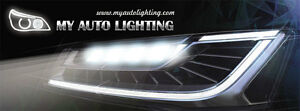 Tired of the old dimming yellow halogen bulbs? Get LEDs!