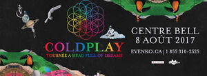 COLDPLAY CENTRE BELL 2017