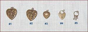 Lot of 5 Vintage Pendants or Charms