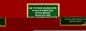 CELBAN. Review classes.by certified tutor