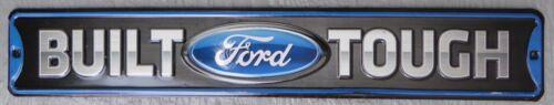 BUILT FORD TOUGH  Embossed Car Metal Sign