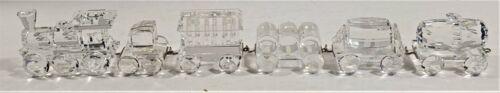 Swarovski Silver Crystal 1988 Train Set Engine + 5 Cars 7471 000 001-006 Retired