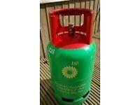 1/2 full - 6kg Propane BPgas/Flo Gas bottle/cylinder - with REGULATOR (same as Calor patio gas) BBQ