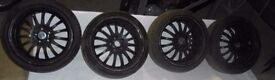 !! CLEARANCE !! Honda Nissan Toyota Drift 18'' 5x114 TEAM DYNAMICS Alloy wheels & tyres 225/40/18