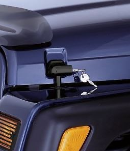Locking Hood Catch Kit; 97-06 Jeep Wrangler TJ